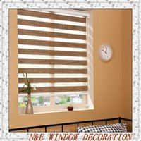Wholesale customize size blackout zebra roller blinds and curtain blinds for living room