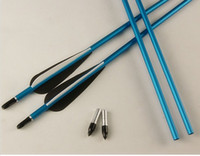 Wholesale pieces alummimum arrow with inches vane for arrow hunting shooting archery bow