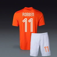 arjen robben - Arjen Robben World Cup Holland home orange Soccer Jersey Soccer Uniforms Netherlands Football Jersey