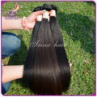 arrival human hair - New Arrival Brazilian Yaki Human Hair Grade A Light Yaki Virgin Hair Unprocessed Yaki Hair Extensions Cheap Brazilian Virgin Hair bBundle
