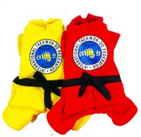 Wholesale Pet Puppy Clothes For Dogs Clothing Dog Apparel Pets Supplies Taekwondo suits