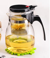 tea sets wholesale - Promotion ml Glass Teapot Clear Glass Filter Tea Cup Travel Decorative Heated Glass Flower Tea Pots Choice Tea Set