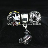 glass jewelry box - DIY Jewelry Sterling Silver Charms Bead Set with Original Box Fits European Pandora Jewelry Bracelets DS053