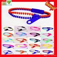 achat en gros de bracelets hip zipper-Vente en gros Candy Zipper Bracelet deux tons double couleur hip hop plastique Zip Bracelet bracelet populaire Bracelet Zipper Bracelet couleur du mélange