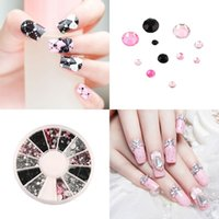 Wholesale 1pc Colorful Nail Art rhinestones Acrylic Nail Decoration sizes For UV Gel Iphone and laptop DIY Brand New