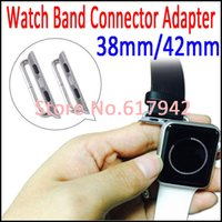 axle straps - For Apple Watch Sport Edition Silver Watch Strap Adapters Clasp Metal Axle Connectors mm mm DHL