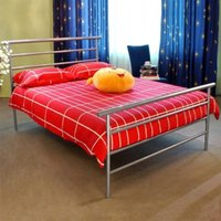 Wholesale Luxury Cushion Upscale Metal Frame FT2 Double Metal Bed Frame