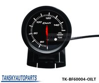 Oil Pressue Gauge auto oil gauge - Tansky Defi mm High Quality Auto Car Motor LED OIL TEMP GAUGE Black Bracket with Red White Light TK BF60004 OILT