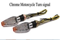 Wholesale In stock x Chrome Motorcycle Turn signal led for Buell Blast M2 Firebolt XB9 XB12 S1 S2