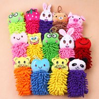 Wholesale Microfiber cartoon kitchen hand towel suspension type Cute Animal Style Kitchen towel fashion Household goods