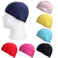 Cheap Stretch fabric caps comfort Naples head Swimming Caps for men woemn nylon swimwear cloth bathing cap 2015 summer spring Free shipping 190068