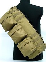 airborne shoulder bags - High Quality Nylon Travel Hiking Tactical Military Bag Messenger Shoulder Back pack Sling Chest Airborne Molle Package Bag
