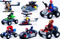 best built cars - 8Pcs New Super Heroes With Their Vehicle Car Best Educational Toys Plastic Building blocks Set