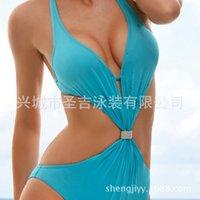 Wholesale 2015 new swimsuit pure metal ribbon flash diamond factory direct Senge swimsuit