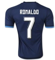 Real madrid calidad de Tailandia 15-16 La Liga España Madrid 3ª uniforme ausente del fútbol del fútbol de los jerseys # 7 Ronaldo # 10 James 11 Bale 9 Benzema