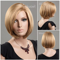 Straight beautiful bobs hair - Discount wigs Beautiful Classic BoB Hair wig Blonde straight short High quality wigs