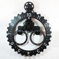 Cheap Trigonometric big gear clock calendar ring gear clock fashion vintage machinery