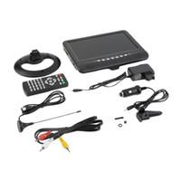 9.5 ayuda teledirigida ancha de la pantalla ancha TV del monitor del coche de la TV de la pulgada TFT LCD mini SD / MMC + AVI / MP3 liberan el envío