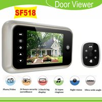Wholesale 2015 New quot LCD Digital Peephole Viewer degree security monitor Doorbell IR Camera supports video recorder photo snap for family