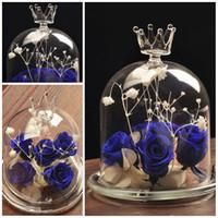 Wholesale 5 Inches Transparent Flower Plant Vase Crown Glass Cloche Vases DIY Terrarium Home Office Desk Decor Decoration Gift E446J