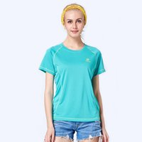 Wholesale Women quick drying short sleeve t shirt solid color summer casual quick dry breathable o neck top