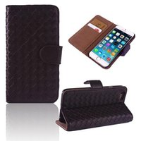 Wholesale 1Pc Straw Mat PU Leather Wallet Case Card Slots Flip Cover for Apple iPhone Case Inch New Arrival