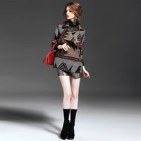 Wholesale Cheap Winter Coats For Sale - Lapel Neck Women Fashion Coat Double Breasted Wool Blends Coats Half Sleeve Argyle Cheap Winter Clothes for Sale 103014