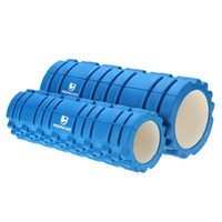 Wholesale 2Pcs Useful EVA Yoga Gym Pilates Fitness Exercise Foam Rollers Set For Fitness Body Building