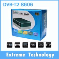 Cheap Wholesale-Russia Thailand Europe DVB-T2 8606 terrestrial digital TV Receiver HD MPEG-2 MPEG-4 H.264 1080P Mini USB HDMI TV Receiver