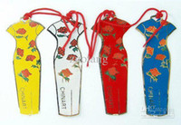Wholesale Vintage Cheongsam Bookmarks Sets Chinese Gifts Handmade Fashion Cloisonne Metal Copper Collector Crafts set