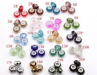 large hole beads - Hot European Style Faceted color Crystal Glass Beads Large Hole Beads Fit Charm Bracelet