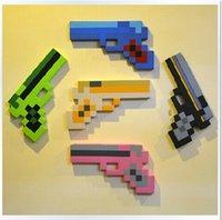 bubble gun - 2014 new color Minecraft EVA diamond foam bubble gun kids boys girls toys christmas birthday High Quality gifts topB988