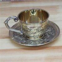 aluminum tea set - India manual pure copper bronze handicrafts tea set manual sculpture copper cup keeping in good health cup coffee cup the cup cm
