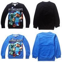 Wholesale Retail new CreeperCartoon Boys kids T shirt Long Sleeve Cotton Sweatshirts Children s Clothes Summer T Shirts