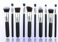 al por mayor make up-Profesional 10 PCS Cosmética Facial Maquillaje pincel de maquillaje herramientas lana Cepillos Kit Set con el envío libre de envases al por menor