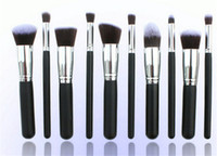 Wholesale Professional Cosmetic Facial Make up Brush Tools Wool Makeup Brushes Set Kit with retail packaging