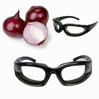 Wholesale High Quality Onion Tear Free Glasses Onion Goggles Chopping Eye Glasses Built In Sponge Kitchen Slicing Eye Protect Tools Black