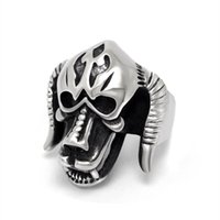 african gift ideas - Vintage jewelry horn horror personality monster ring ring SA880 domineering offbeat ideas