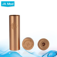Cheap Vapor Cigarettes Mechanical JA Mods E Cig Mod Red Copper 1:1 Clone 18650 Battery Tube Electronic Cigarettes fit 510 Thread Atomizer Tugboat