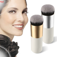 Wholesale Professional Makeup Brush Flat Top Brush Foundation Powder Beauty Brush Cosmetic Make Up Brushes Tool Wooden Kabuki Make Up Brush SV028345