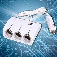Wholesale Car Charger Port USB Car Cigarette Lighter Socket Splitter Plug Charger V Socket Power Adapter With Retail Package