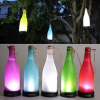 beautiful solar lamps - 5pcs Beautiful Solar Landscape Light Attractive Led Street Lamp Wine Bottle Shape Novelty Led Solar Hanging Lamp L0828