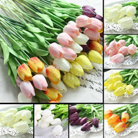 Wholesale Various Colors Beautiful Tulip Silk Flower Latex Real Touch for Home Decoration KC451
