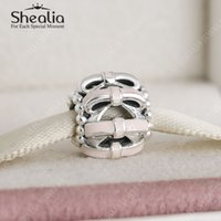 cheap pandora bracelet beads - Cheap Pink Bow Loose Beads Authentic Sterling Silver Bow Enamel Charm Beads Fit Pandora Bracelets DIY Jewelry Making