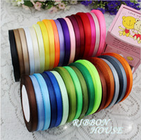 Wholesale 15 off hot sale yards roll quot mm single face satin ribbon gift packing belt wedding decoration ribbon yards
