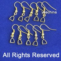 Wholesale Beads K Yellow Gold Filled Making Jewelry Findings Pinch Bail GF Hook Earring Earwire