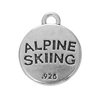 alpine jewelry - New Fashion Easy to diy Metal Alpine Skiing Charms For Bracelets Jewelry jewelry making fit for necklace or bracelet