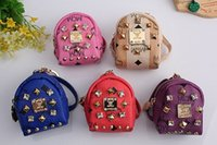 mini purses - MCM Wallets purse block drilling rivets mini bag