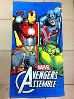 bath towels - The Avengers Despicable Me Batman Beach Towels Cotton Cartoon Bath Towels Extra Large Size High Water absorbent