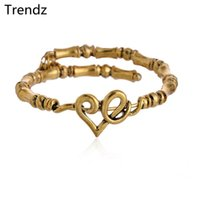 Wholesale Alex Ani Heart Wrap Gold Bangle High Quality Vintage Stainless Steel Expandable Beaded Bracelets With Charms AA201551